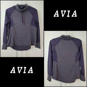 Avia Men Dri Fit Thump Hole Sweater Size XL Purple